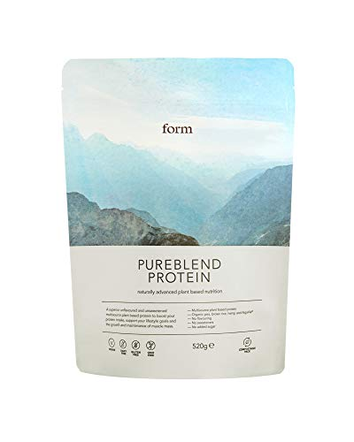 Form Pureblend Protein - Vegan Protein Powder | Complete Amino Acid Profile | Unflavoured and Unsweetened | Perfect for Your Smoothies, Cooking and Baking
