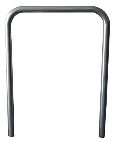Aparca bicicleta para calle en hierro galvanizado para empotrar. Soporte aparcamiento de bicicletas para estacionar dos bicis. Aparcamiento 2 bicicletas (Aparca bicicleta acero galvanizado)