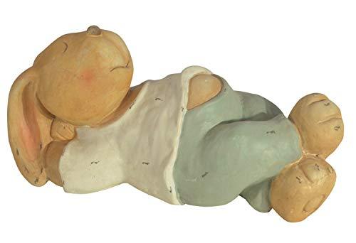 CHICCIE Keramik Osterhase Liegend Braun 45cm - Deko Hase Osterhasen Oster Hasen Osterdeko Gartenfigur Gartendeko