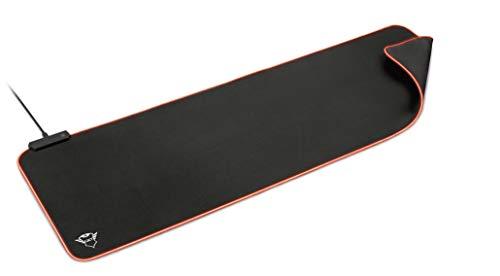 Trust Gaming GXT 764 Glide-Flex XXL RGB Mauspad Mousepad (Extra Groß : 930 x 300 x 3 mm, Mouse pad mit RGB LED Beleuchtung, Anti Rutsch Matte) schwarz
