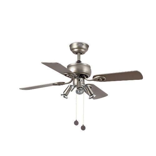 Ventilatori da soffitto con lampada GALAPAGO - GRIGIO CAVA - 4 PALE