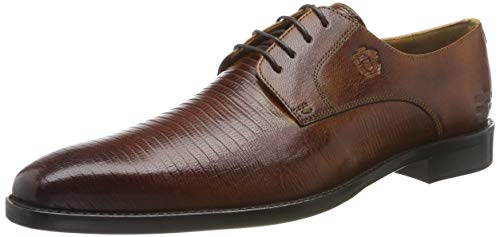 MELVIN & HAMILTON MH HAND MADE SHOES OF CLASS Herren Martin 1 Derbys, Braun (Brown Venice Guana-Tan-Venice-Tan-Lining + Textile-Rich Tan-Insole Leather-Hrsrbrownw), 39 EU