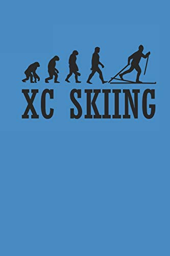 XC SKIING: Notizbuch Langlaufen Notebook Cross Country Skiing Journal 6x9 kariert squared karo