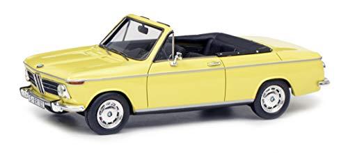 Schuco 450908500 BMW 2002 Cabrio, Baur, Resin, Modellauto, 1:43, gelb