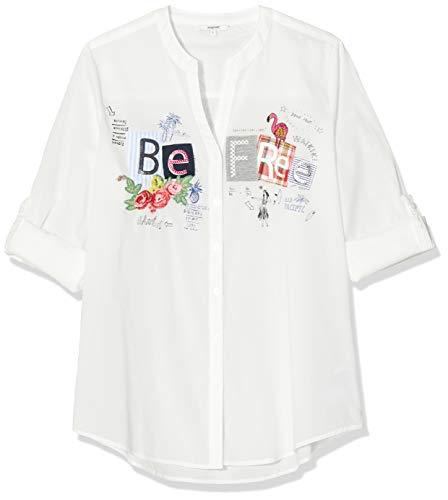 Desigual Damen CAM_BE Free Hemd, Weiß (Blanco 1000), Large (Herstellergröße: L)