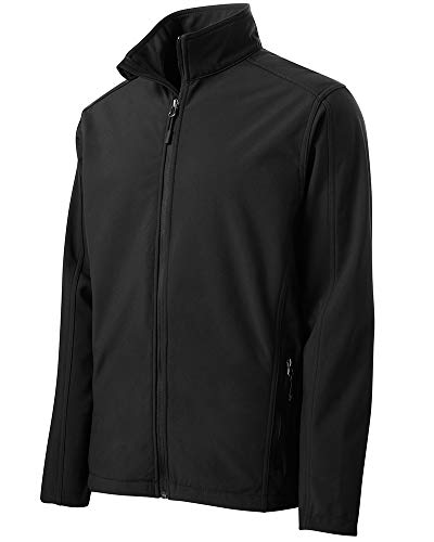 Joe's USA Mens Tall Core Soft Shell Jacket-Black-4XLT