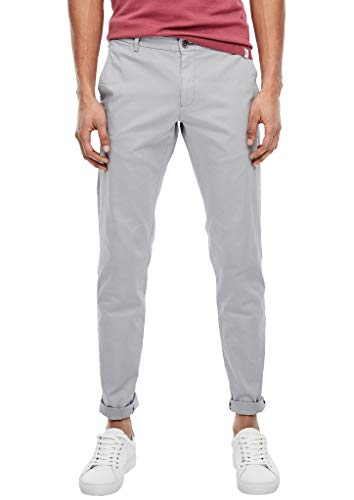 s.Oliver BLACK LABEL Herren Slim: Stretch-Chino light grey 32.32