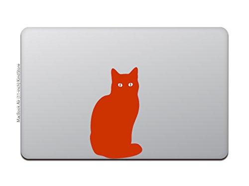 カインドストアMacBookAir/Pro11/13インチマックブックステッカーシール猫黒猫ブラックキャットレッドM649-R