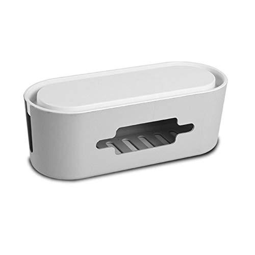 MAOXI Kabelaufbewahrungsbox Power Anti-Staub-Ladebuchse Kabel-Organizer-Box Desktop Network Line-Aufbewahrungsbehälter
