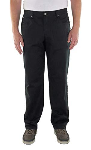 Marina del Rey Herren 5-Pocket Twill Hose Stretch in Comfort FIT Große Größen, Übergrößen, Big Size (68, Schwarz)