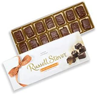 Russell Stover Dairy Cream Caramels Box 10 Ounce Russel Stover Candy, Sweet Dairy Caramel and Chocolate Covered Candy Box, Chewy Buttery Caramel Covered In Smooth Chocolate Candy in a Gift Box