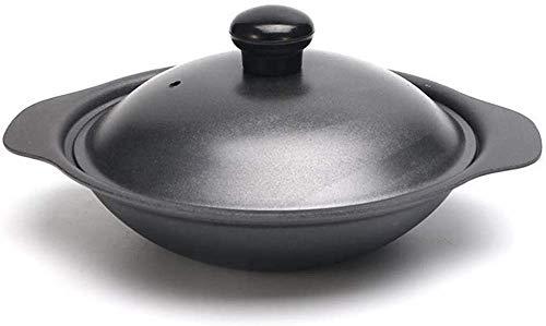 Mini-Wok aus Gusseisen mit Deckel, 18 cm/20 cm/22 cm/24 cm/26 cm/28 cm/30 cm, für Induktionsherd, Tisch-Präsentationswok, für Einzel-/Mehrnutzer, gusseisen, Schwarz
