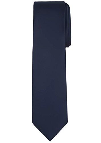 Jacob Alexander Solid Color Men's Regular Tie - Navy Blue