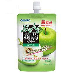 オリヒロ ぷるんと蒟蒻ゼリー 青りんご 130gパウチ×48本入×(2ケース)