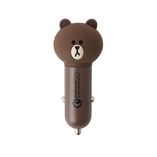 LINE FRIENDS Brown Vehicle High-Speed Battery Charger One Size Brown
