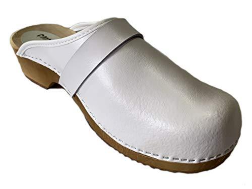 GreenPyrus 064M Zuecos Zapatillas Zapatos de Cuero para Hombre, Blanco, EU 46