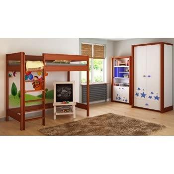 Children's Beds Home Camas Altas para niños Niños Juniors Sin colchón Incluido (180x80, Palisander)
