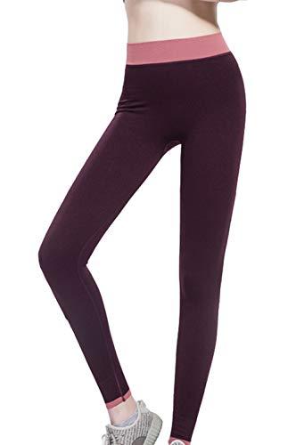 cxzas852 Pantaloni Sportivi da Yoga per Donna Fitness da Esterno con Leggings a Nove Punti Stretti ad Asciugatura Rapida