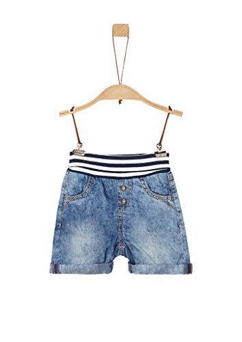 s.Oliver RED LABEL Unisex - Baby Leichte Shorts mit Umschlagbund blue 86.REG