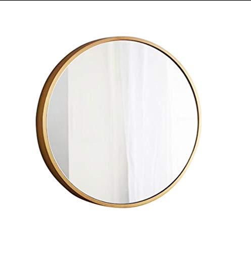Miroirs Or ronde maquillage miroir bureau chambre bureau princesse coiffeuse miroir fer art beauté miroir (Couleur : Blanc, taille : 80)
