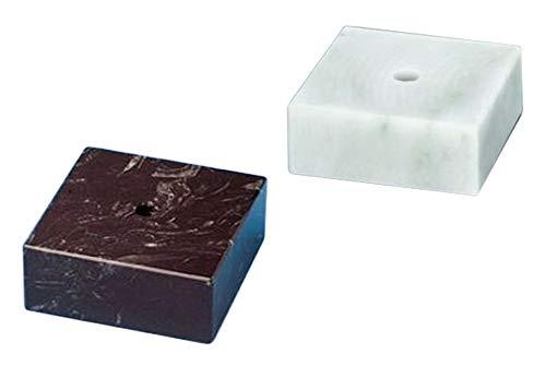RaRu Marmorsockel (schwarz oder weiß) in verschiedenen Größen erhältlich (auf Wunsch mit Gravurschild) (Weiß, 140 x 140 x 50mm)