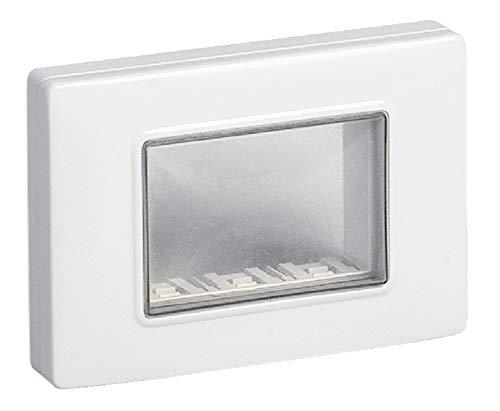 Vimar 14943.01 Calotta da parete IP55, 3 moduli Eikon, Arké e Plana, con viti, per scatole da incasso 3 moduli, bianco