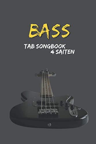 Praktisches TAB Notizbuch, Heft, Block für Bassisten/Bass Gitarre 4 Saiten - Lernen und Songwriting: Mein Songbook: 120 Seiten TAB Linien mit Platz ... und komponieren – für Schüler und Songwriter
