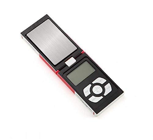 Eidyer Báscula de bolsillo digital, mini báscula portátil multifunción, peso ligero, 100 g x 0,01 g, con pantalla LCD retroiluminada para cocina, joyas, piedras preciosas, color dorado