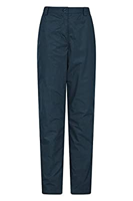 Mountain Warehouse Trek II Womens Trousers - Lightweight Trousers, Quick Drying Ladies Pants, Thermal Lining Casual Bottoms - for Trekking & Hiking Navy 14