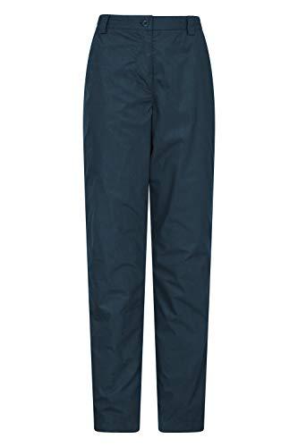 Mountain Warehouse Pantalon Femmes Trek II - Léger, séchage Rapide, Doublure Thermique - Marche, randonnée Bleu Marine 38