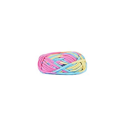 ANBF XG 100g/bal Breedte 2,4 cm Dikke Kleurrijke Doek Strip Garen Hand Breien Gehaakte draad Voor DIY Handgemaakte Tapijt Mand Garen-5