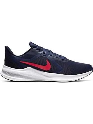 Nike Downshifter 10, Zapatilla de Correr para Hombre, Medianoche Navy/Laser Crimson, 40.5 EU