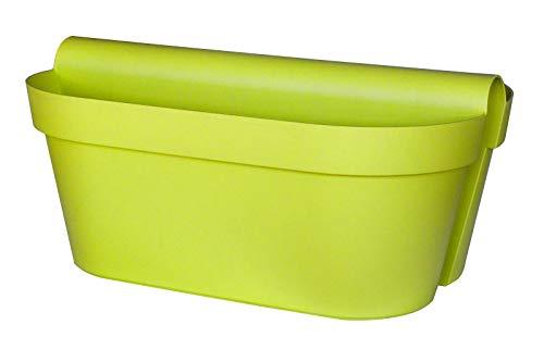 """Euro 3 Plast Balkon-Hängekasten """"Be Up Duo"""" in der Farbe Apfelgrün, 50 cm / 18 Liter"""