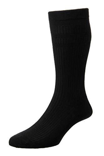 HDUK Mens Socks Herren Socken Gr. UK 13-15 EU 47-50, Schwarz