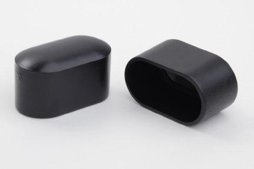 4 Stück Stuhlbeinkappe Stuhlbeinschutz Bodenschutz Stuhlschoner Kunststoff schwarz 38 x 20mm, für alle Böden im Innen- und Aussenbereich