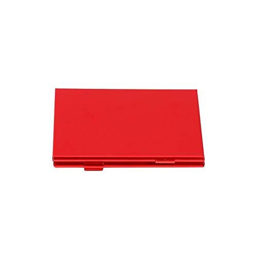 Qiilu TFカードホルダー SIMカードケース 耐磁 耐衝撃 耐久性 TFカード24枚 入れ 収納可能 持ち運びが簡単 アルミニウム製 二重層設計 カード保護(red)