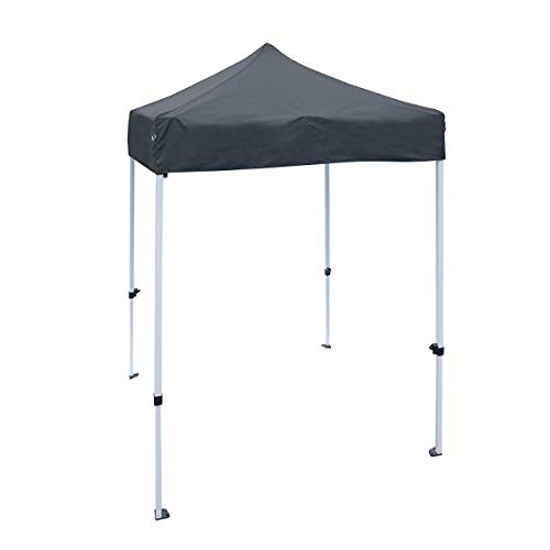 ALEKO Portable Pop Up Canopy Polyester Outdoor Tent - Black - 5x5 Ft