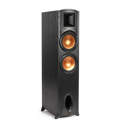 """Klipsch Synergy Black Label F-300 Floorstanding Speaker with Proprietary Horn Technology, Dual 8"""" High-Output Woofers, with Room-Filling Sound in Black"""