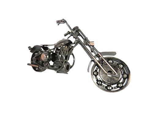 Der Eisenhans B02-B9 Modell Motorrad Chopper Metall Motorrad Sammlerstück handgefertigt Eisen Skulptur 20,0 cm x 6,0 cm x 11,0 cm