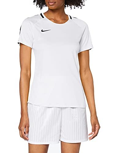 NIKE W NK Dry Acdmy18 Top SS Camiseta de Manga Corta, Hombre, White/Black/Black, M