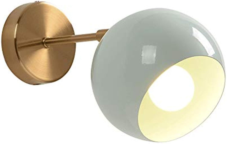 ZR Postmoderne minimalistische Kopfschlafzimmer-Bettwand-Wandlampen-Mittelmeerganghintergrundwand kreative amerikanische Lampen