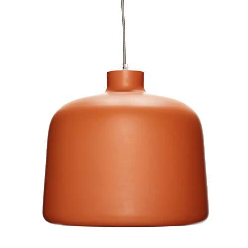 Hübsch Lampe, Aluminium, Terrakotta/Weiß ø35xh29cm, E27/40W