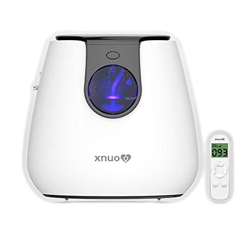 EXUVIATE Oxigenoterapia Generador De Oxígeno Concentrado Portátil Purificador De Aire para Cuidado Personal 1-6L / Min 93%±3% De Alta Pureza Máquina