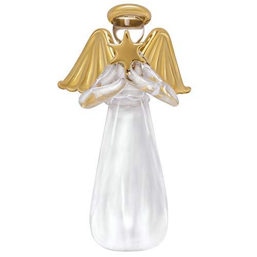 Hallmark Keepsake Christmas Ornament 2019 Miniature Glass Angel, 3.75', Mini Tree Topper