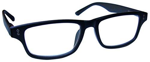 The Reading Glasses Company Gafas De Lectura Negro Mate De Goma Lectores Hombres Mujeres 50 g, Potencia óptica +3,50 (R33-1-350)