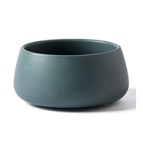 LHBNH Ciotola Dessert zuppiera Ciotola Ciotola di Riso Ciotola di Ceramica insalatiera Articoli per la tavola delle Famiglie, Ciotola ret (Color : Dark Green, Size : 16 * 16 * 7CM/6 * 6 * 2INCH)
