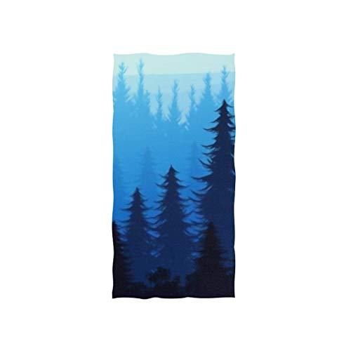 SUUJ Toallas de Mano 30x15in, Nature Forest Natural Pine Mountains Toalla de baño Fina para Nadar Horizon, Toalla de baño pequeña, Suave y Altamente Absorbente, para baño, Hotel, Gimnasio y SPA