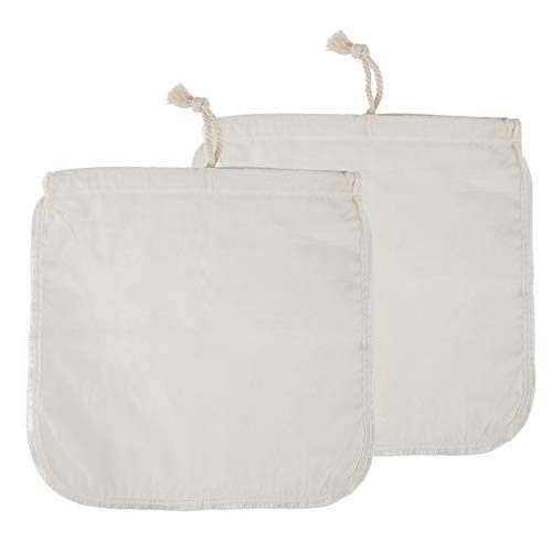 Nut Milk Bag, McoMce 2 Pack Cheese Cloth, Fine Mesh Line Cheesecloth Bag, Multiple Usage Cheese Cloths for Straining, Reusable Food Strainer for Yogurt Strainer, Milk & Juice Filter(12 12 inches)