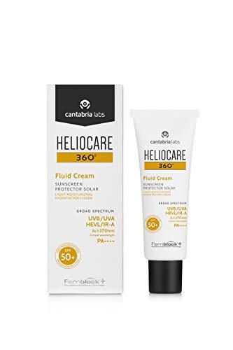 Heliocare 360º Fluid Cream SPF 50+ - Crema Solar Facial Fluida, Nutre...