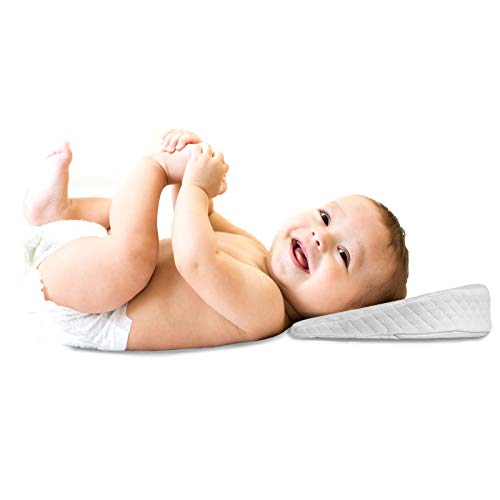 Baby Wedge Foam Pillow - Anti Reflux and Colic Congestion | Universal Bassinet | Pram | Moses | Basket | Stroller | Crib | Cot Bed - Toddler Sleep Safety Pillows (Pack of 1)